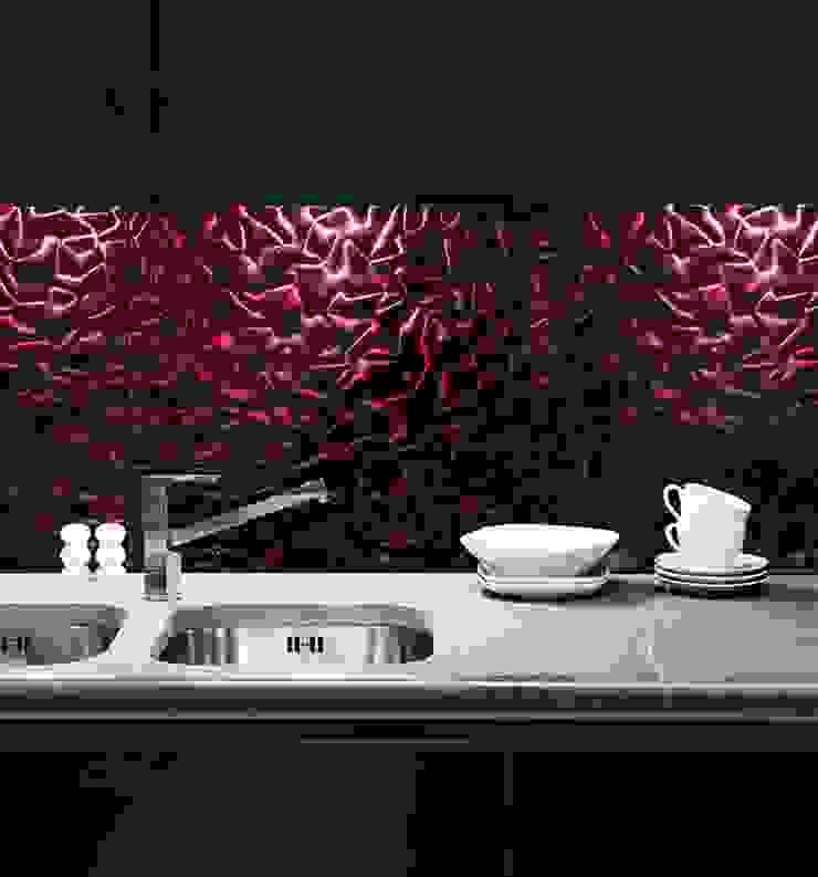 Violet Silk 3D Mazu Nowoczesna kuchnia od Deeco Nowoczesny Szkło