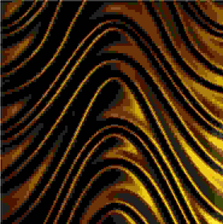 Golden Wave 3D Mazu od Deeco Nowoczesny Szkło