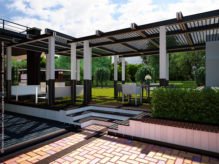 Проект в квадрате Сад в скандинавском стиле от Мастерская ландшафта Дмитрия Бородавкина Скандинавский