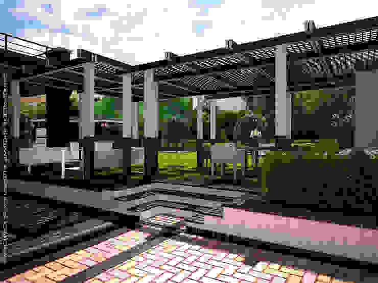 Jardines de estilo  por Мастерская ландшафта Дмитрия Бородавкина, Escandinavo