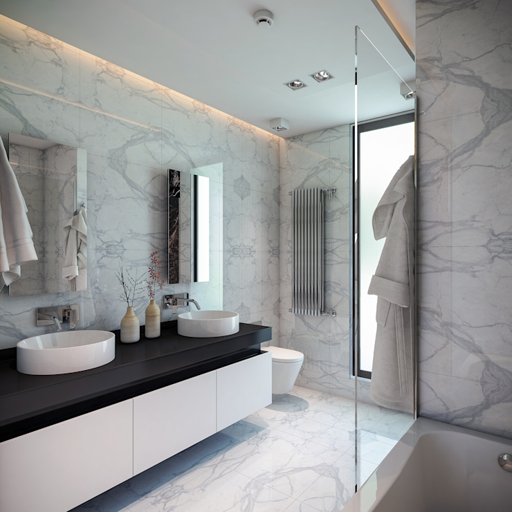 Bathroom by BUUN MOTTO ARCHITECTS, Modern