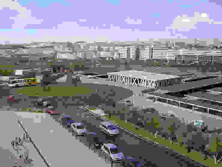 Parque Solar Fotovoltaico - Odivelas:  industrial por Polys,Industrial