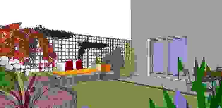 Perspective couleur homify Jardin moderne