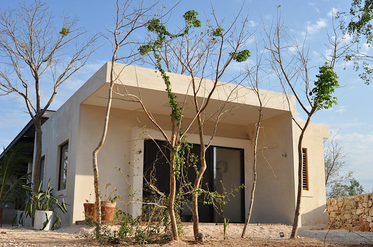 Houses by Degetau Arquitectura y Diseño, Tropical Natural Fibre Beige