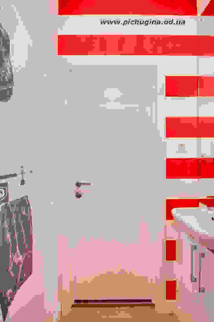 Квартира-студия для молодой семьи Ванная комната в скандинавском стиле от Tatyana Pichugina Design Скандинавский