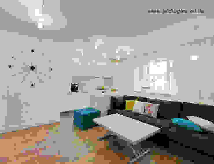 Квартира-студия для молодой семьи Кухня в скандинавском стиле от Tatyana Pichugina Design Скандинавский