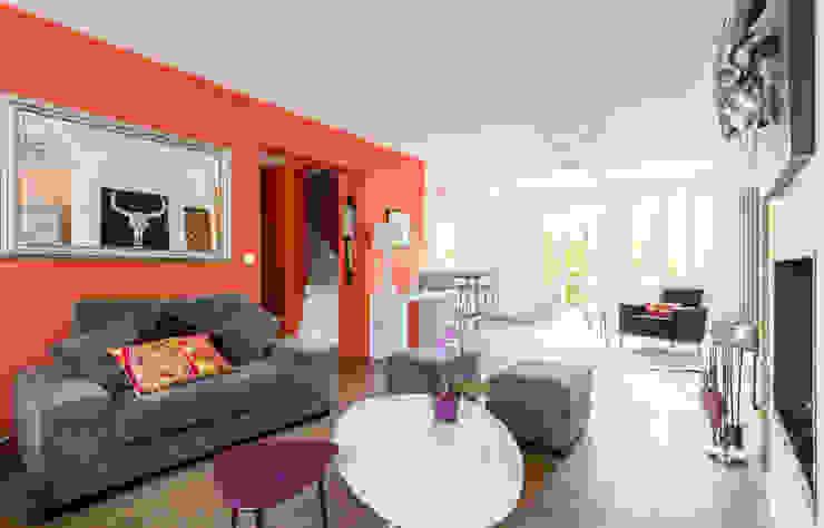 Aménagement et décoration d'une villa région St Germain en Laye Salon moderne par Katia Rocchia Home Designer Moderne