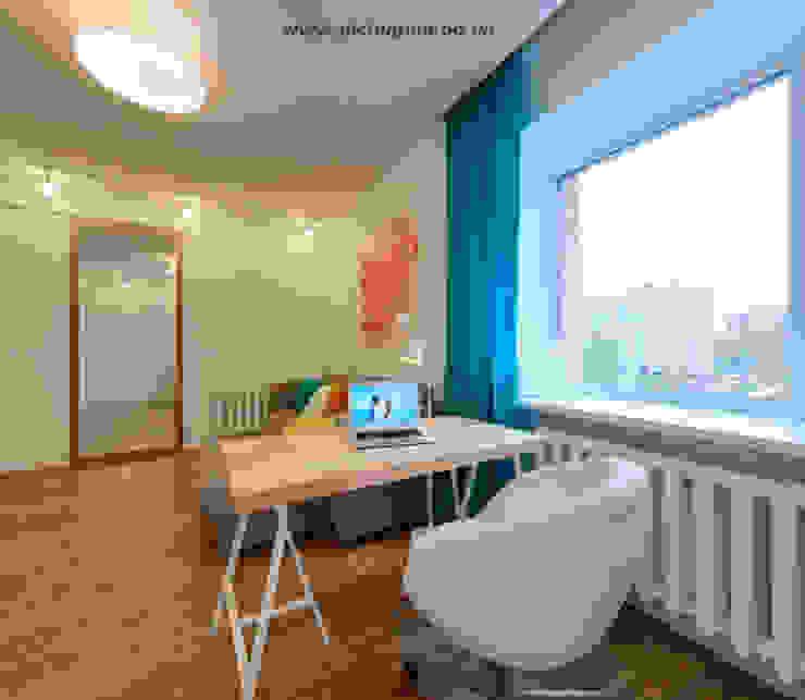 Квартира-студия для молодой семьи Рабочий кабинет в скандинавском стиле от Tatyana Pichugina Design Скандинавский