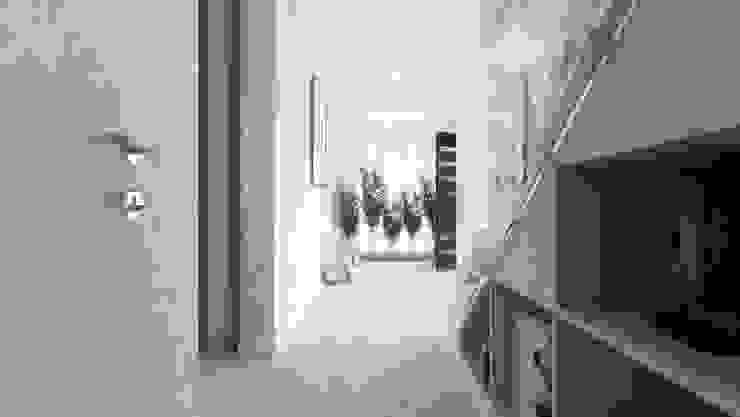 Casa D: Corredores e halls de entrada  por Rúben Ferreira | Arquitecto