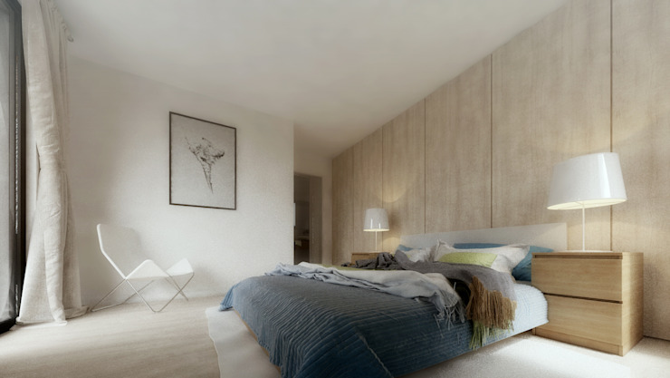 Casa D: Quartos  por Rúben Ferreira | Arquitecto