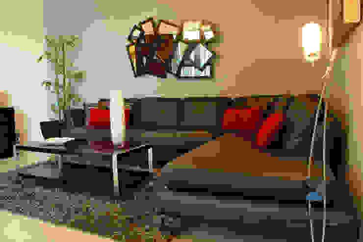proyecto residencial <q>Montebello</q> Salones modernos de PORTO Arquitectura + Diseño de Interiores Moderno