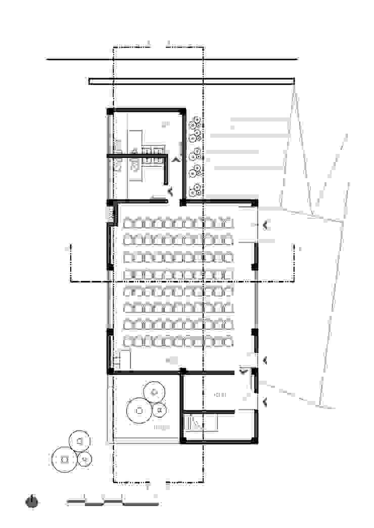 Planta 1 de Komoni Arquitectos