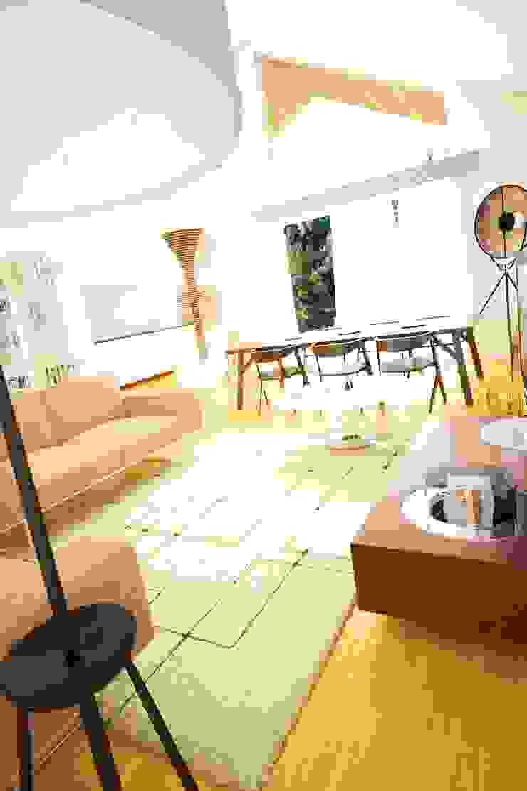 Casa AC Salas de estar modernas por Rúben Ferreira | Arquitecto Moderno