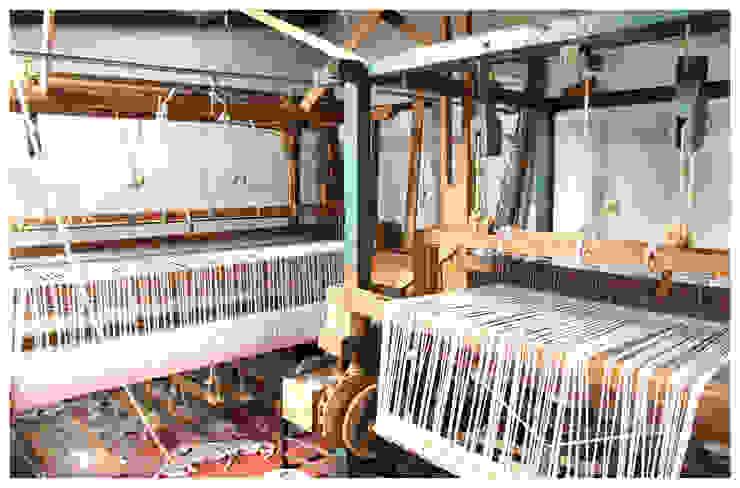 Telares de pedal de Tapetes Gualupita Moderno Textil Ámbar/Dorado