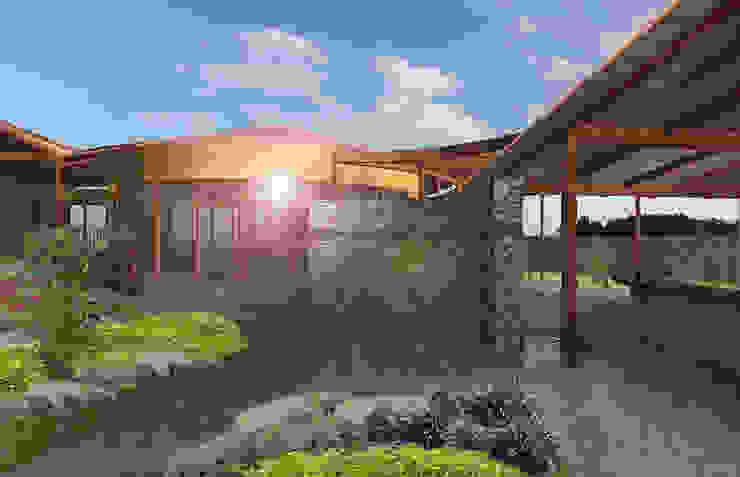 Viviendas Unifamiliares tipo Bungalow Paredes y pisos de estilo tropical de Constructora Arquimac C.A Tropical Piedra