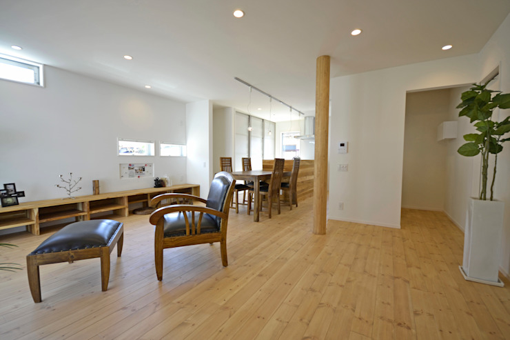 自家菜園の家 リビング の フォーレストデザイン一級建築士事務所