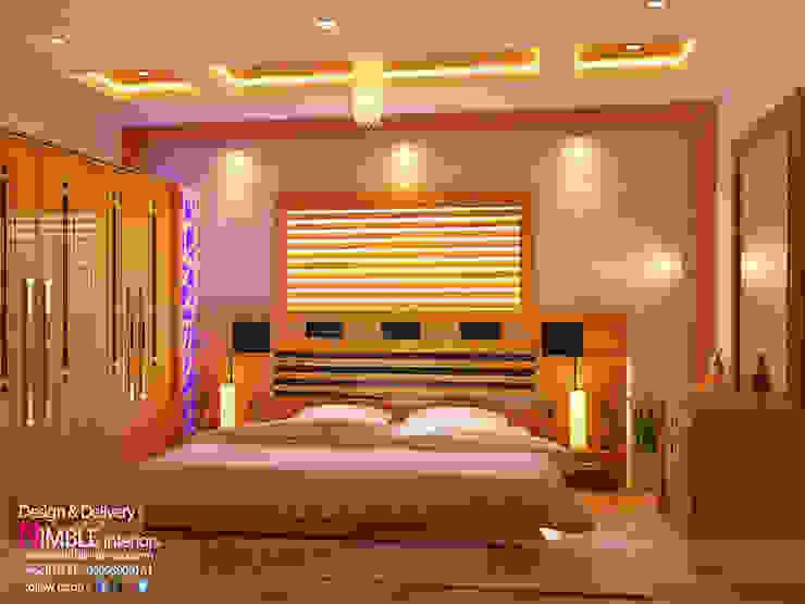 Modern Style Bedroom in Teak Wood: modern  by Nimble Interiors,Modern Wood Wood effect