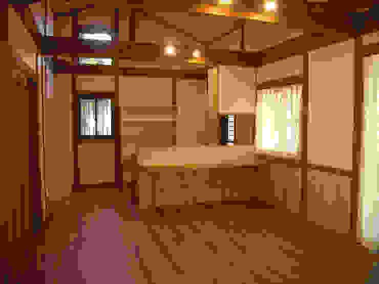 施工事例 和風スタイルの 壁&フローリングデザイン の drem.tao.koubou 和風