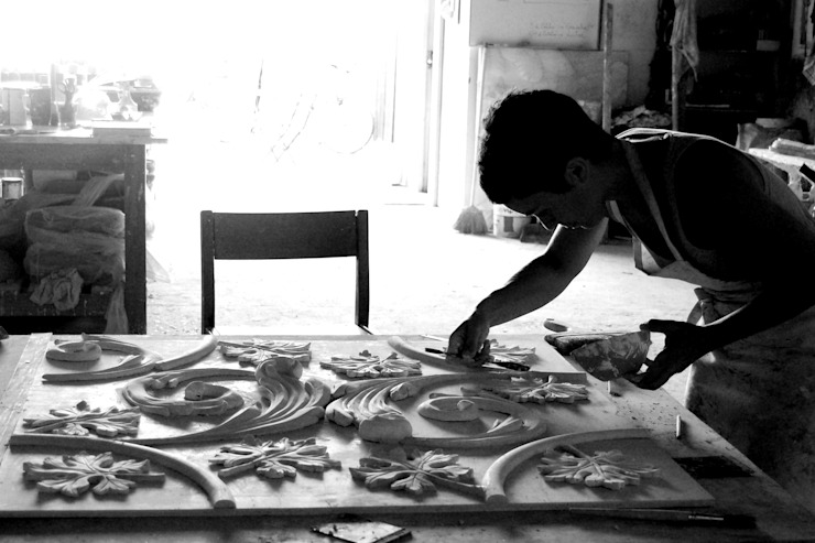 Tecto Principe Real por Iva Viana Atelier de Escultura Moderno
