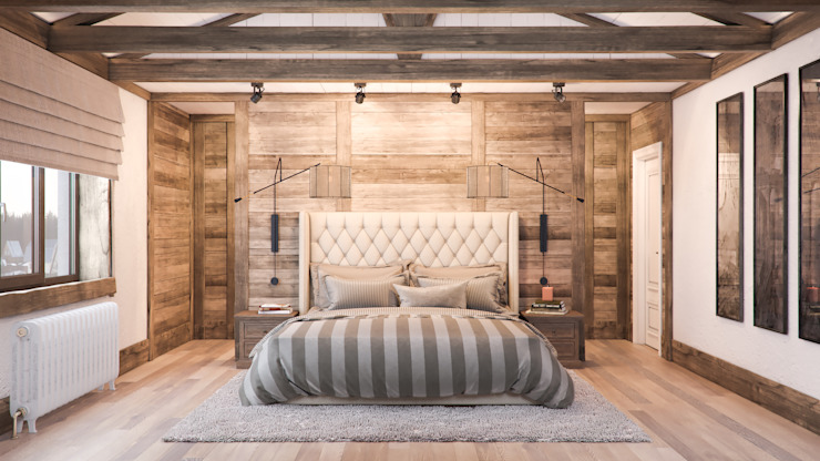 Country style bedroom by Шабалин Александр Country Wood Wood effect