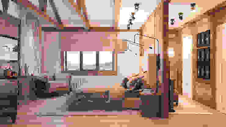 Schlafzimmer im Landhausstil von Шабалин Александр Landhaus Holz Holznachbildung