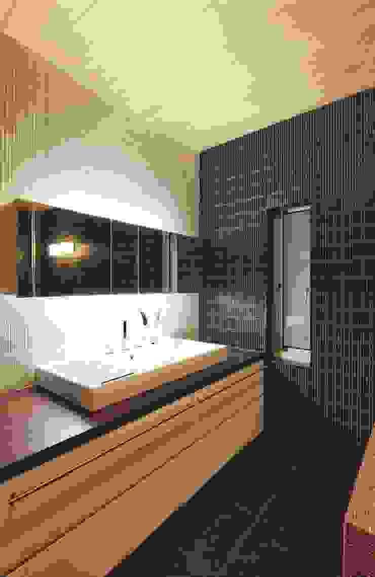 路地のある寺内町の家 モダンスタイルの お風呂 の 一級建築士事務所 有限会社NEOGEO(ネオジオ) モダン