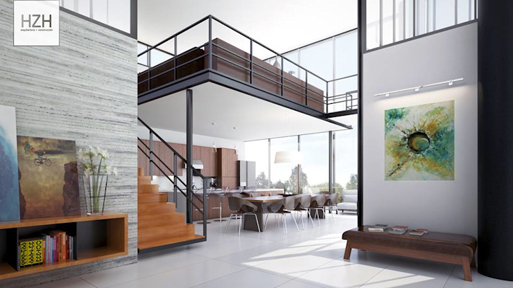 HZH Arquitectura Salones modernos de HZH Arquitectura & Diseño Moderno