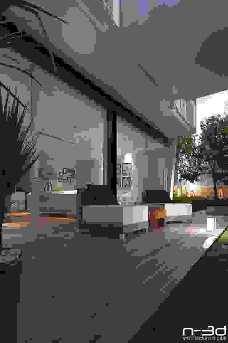 N-3d / arquitectura digital Balcones y terrazas modernos de N-3D / ARQUITECTURA DIGITAL Moderno