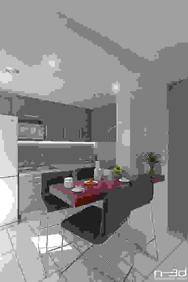 N-3d / arquitectura digital Cocinas modernas de N-3D / ARQUITECTURA DIGITAL Moderno