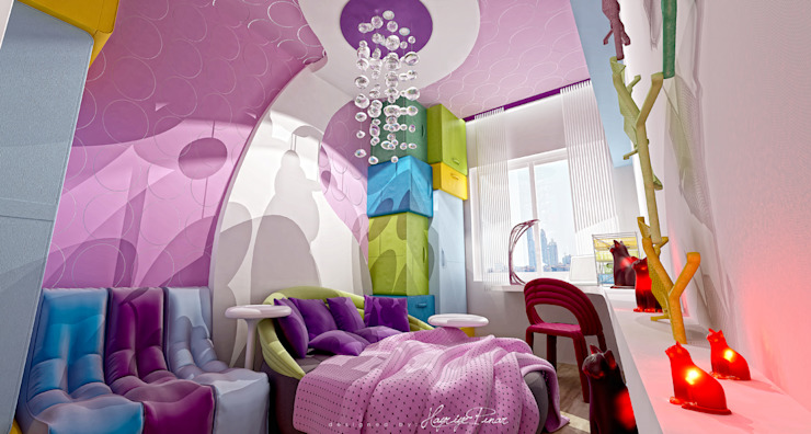 Stanza dei bambini moderna di HePe Design interiors Moderno