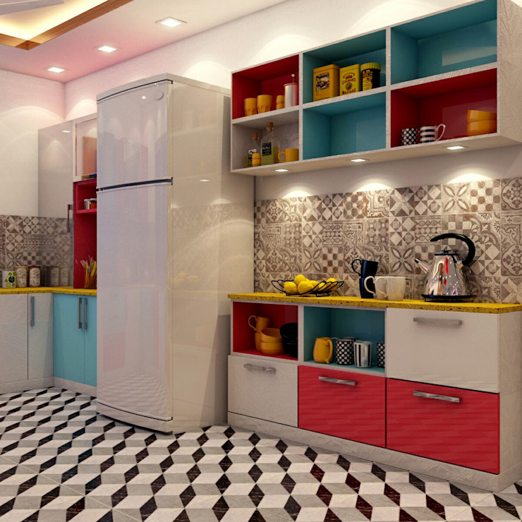 Kitchen Design (Fridge Area) Creazione Interiors