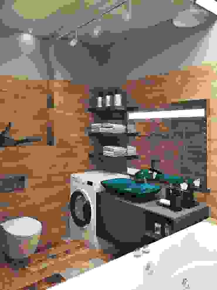 Квартира в стиле лофт, 70 м2 Ванная в стиле лофт от De Steil Лофт