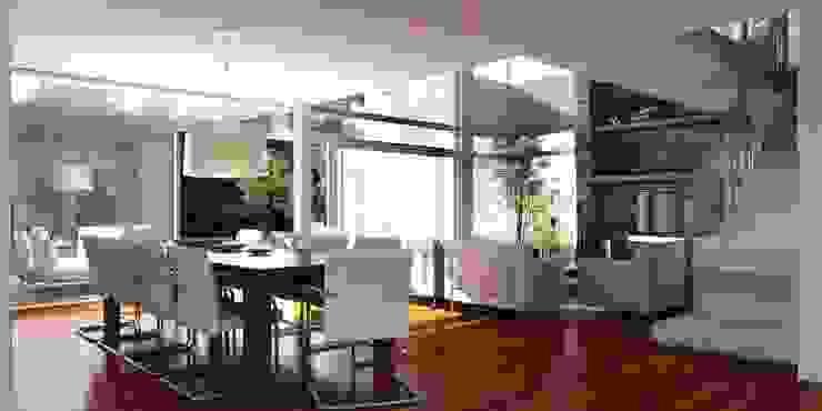 Vivienda en Grand Bell Comedores modernos de AMADO arquitectos Moderno