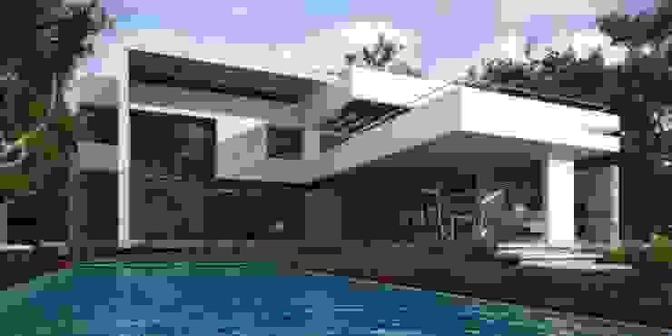 Vivienda en Grand Bell Piletas modernas: Ideas, imágenes y decoración de AMADO arquitectos Moderno