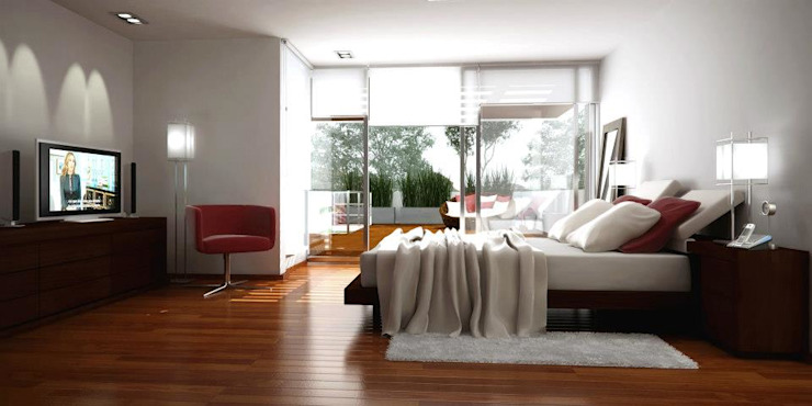 Modern style bedroom by AMADO arquitectos Modern