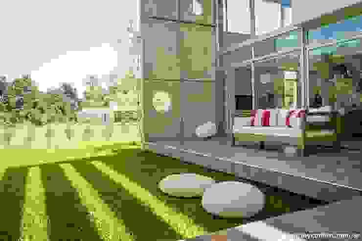 Vivienda en Grand Bell Balcones y terrazas modernos: Ideas, imágenes y decoración de AMADO arquitectos Moderno