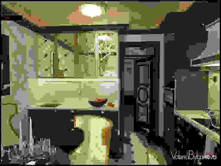 Квартира текстильщики Кухни в эклектичном стиле от Valeria Bylgakova&Design group Эклектичный Медь / Бронза / Латунь