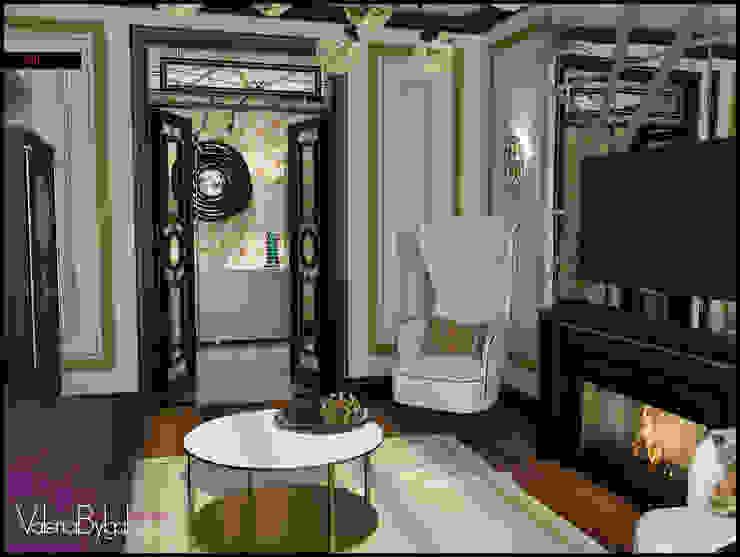 Квартира текстильщики Гостиные в эклектичном стиле от Valeria Bylgakova&Design group Эклектичный
