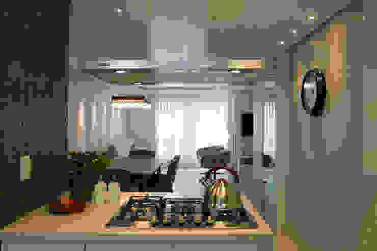 Bancada com cook top Cozinhas modernas por ARQ Ana Lore Burliga Miranda Moderno Granito