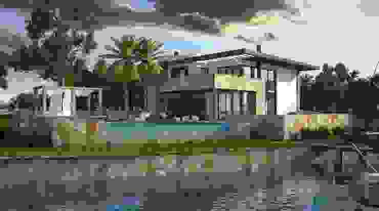 Project of small house by the lake Casas modernas: Ideas, imágenes y decoración de Rodriguez Pons & Partners Moderno