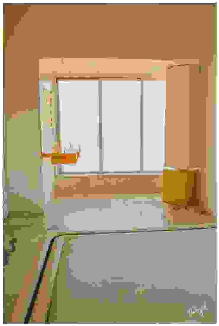 The Explored Space Minimalist bedroom by Neha Goel Architects Minimalist