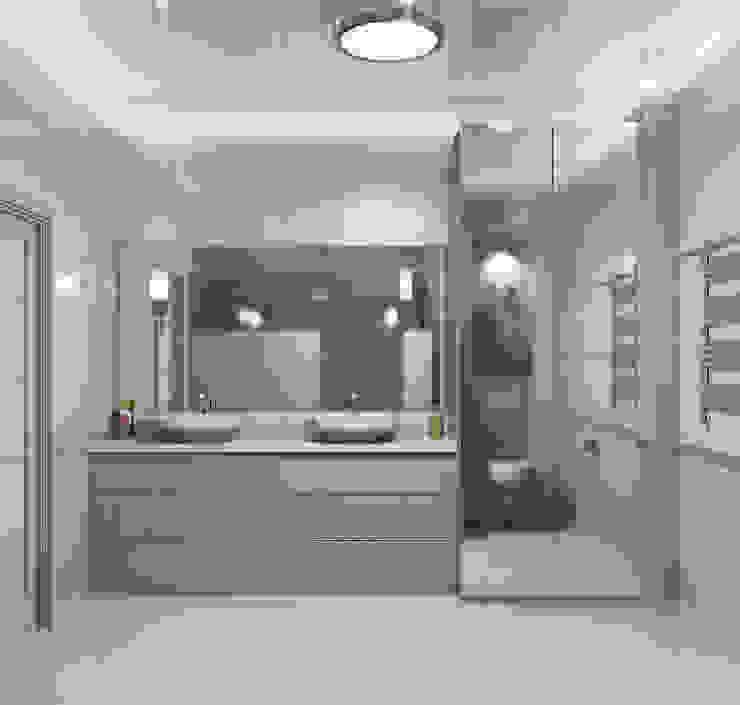 homify Eclectic style bathroom Beige