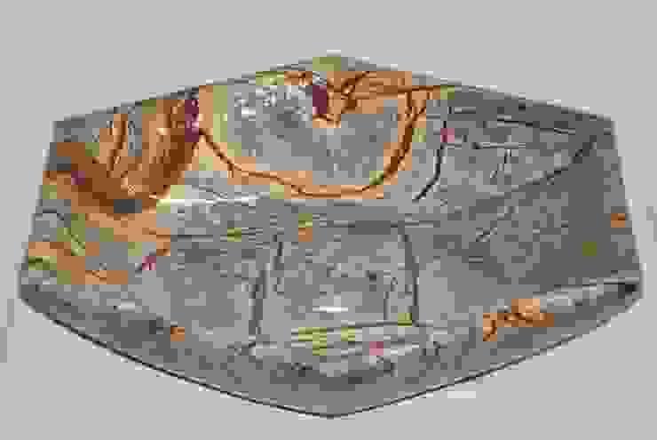 "18"" Rainforest  Brown Marble hexa Sink/ Bath Accessories: modern  by india stone,Modern Marble"