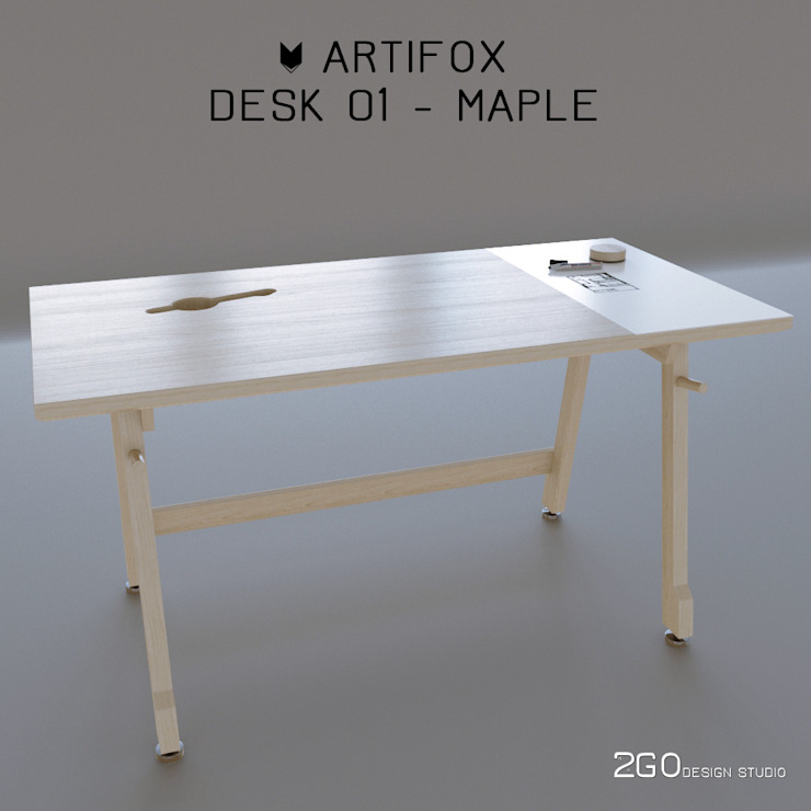 Artifox Desk 01 от 2GO Design Studio Минимализм Пластик