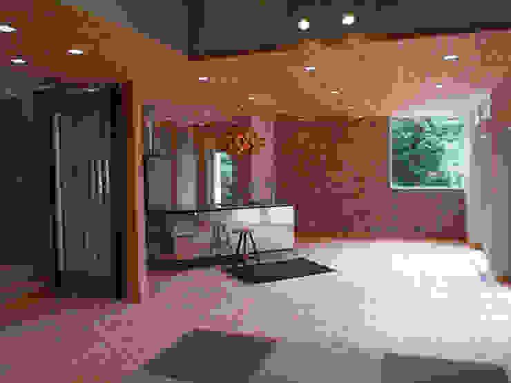 Salon original par 一級建築士事務所ATELIER-LOCUS Éclectique Bois Effet bois
