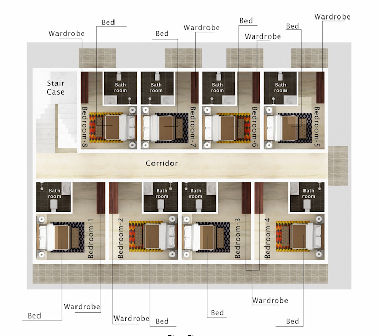 Interior Layout Asian style hotels by Space Interface Asian