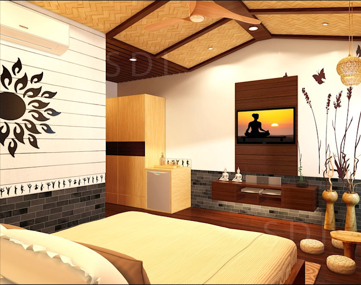 Guest Room Asian style hotels by Space Interface Asian
