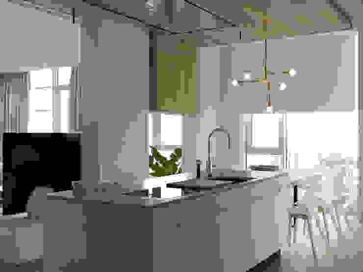 orange leaf Кухня в стиле минимализм от AShel Минимализм Дерево Эффект древесины