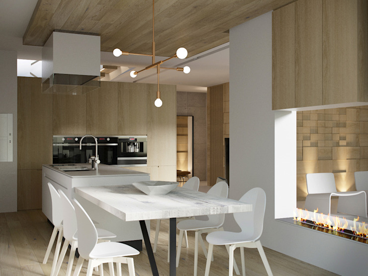 Minimalist kitchen by AShel Minimalist Wood Wood effect