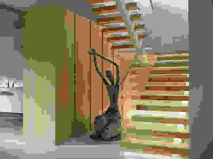 Projekty,  Korytarz, przedpokój zaprojektowane przez AShel, Minimalistyczny Drewno O efekcie drewna